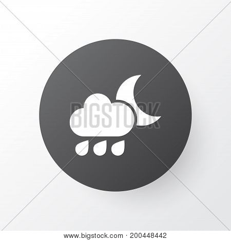 Premium Quality Isolated Nightly Element In Trendy Style.  Rainy Icon Symbol.