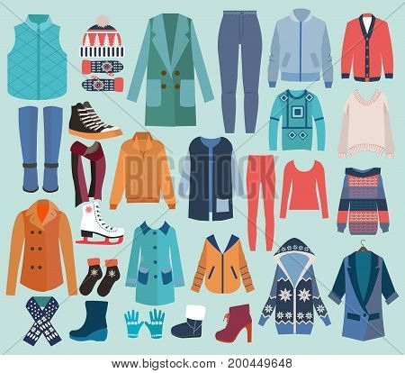 Woman Winter Clothes and Collection with Shoes knitted Accessories