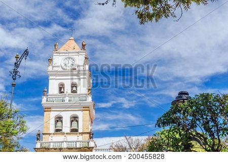 View on Sucre Metropolitan Cathedral - Sucre Bolivia