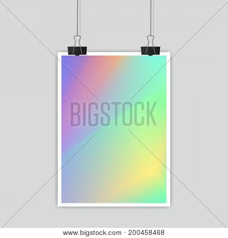 Vector mesh poster template. Design for greeting card