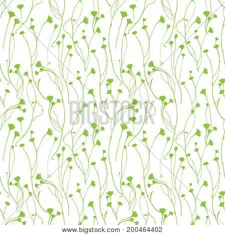 Floral endless pattern in light grey colors and texture