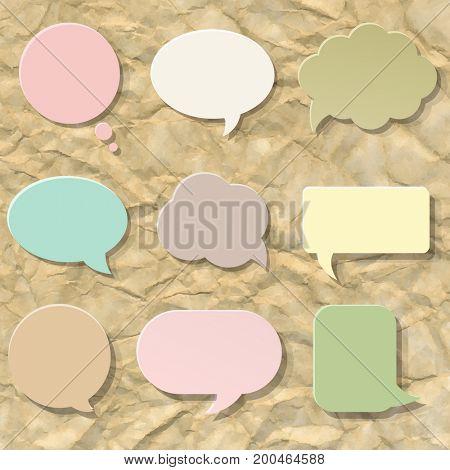 Pastel Speech Bubble Set