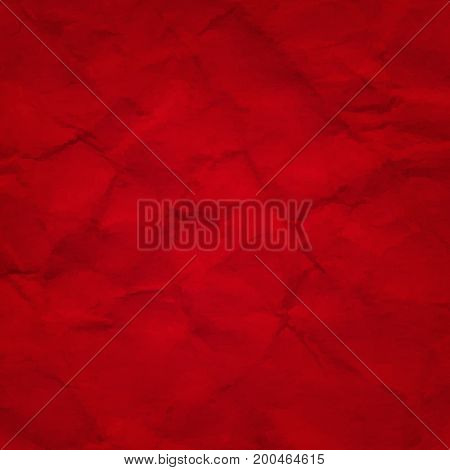 Red Crushed  Paper