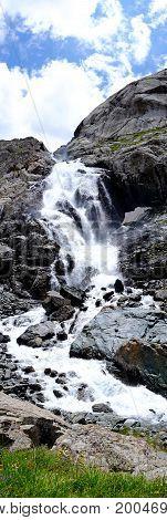 Waterfall In Kyrgyzstan