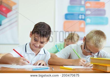 Portrait Of Children In Shool