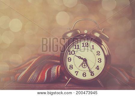 Alarm Clock And Scarf.