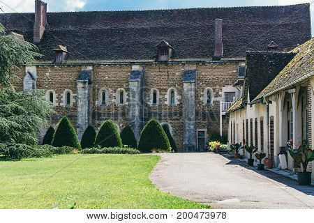 Abbey in France Pontigny the former Cistercian abbey in France one of the five oldest and most important monasteries of the orde.