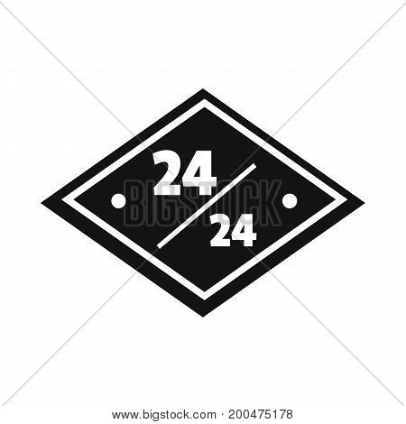 Signboard 24 black simple silhouette icon vector illustration for design and web isolated on white background. Signboard vector object for labels  and advertising