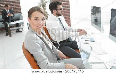 portrait of confident business woman in her office