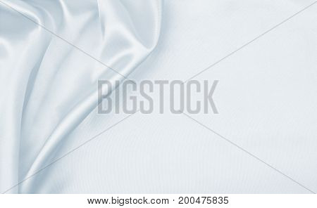 Smooth Elegant Grey Silk Or Satin Luxury Cloth As Wedding Background. Luxurious Christmas Background