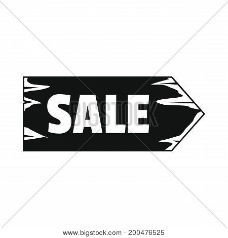Signboard wooden sale black simple silhouette icon vector illustration for design and web isolated on white background. Signboard vector object for labels  and advertising
