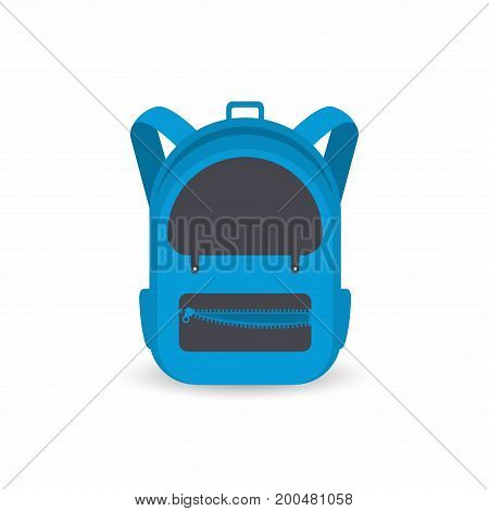 School Backpack Isolated On White Background. Kids Backpack Icon