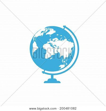 School Globe Icon Isolated On White Background