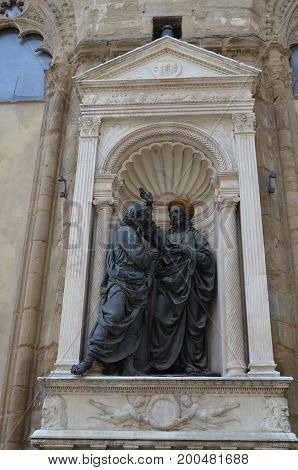 Some decoration of Orsanmichele's church, Firenze, Tuscany