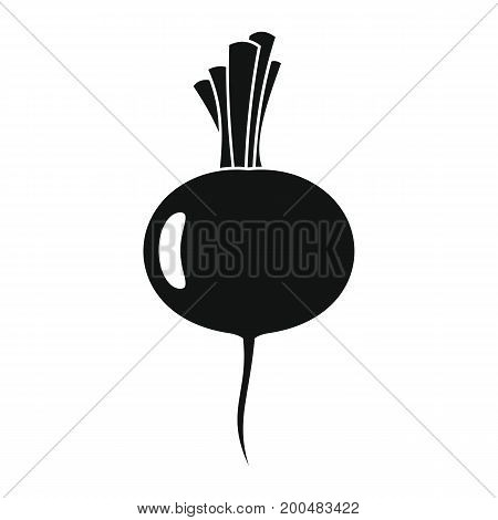 Beet black simple silhouette icon vector illustration for design and web isolated on white background. Beet vector object for labels  and advertising