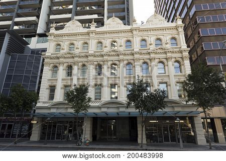 The Queensland Country Life Building facade is a heritage-listed Victorian Italianate facade of a former warehouse built from 1888 to 1898 in Brisbane Australia