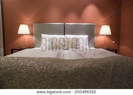 Double bed room in a luxury suite