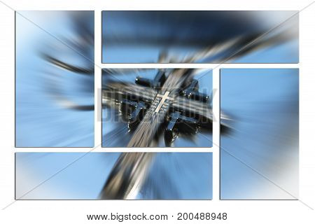 Religious Cross Art Zoom Burst High Quality
