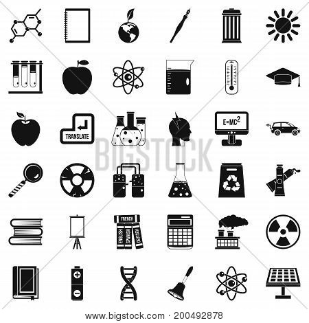 End of education icons set. Simple style of 36 end of education vector icons for web isolated on white background