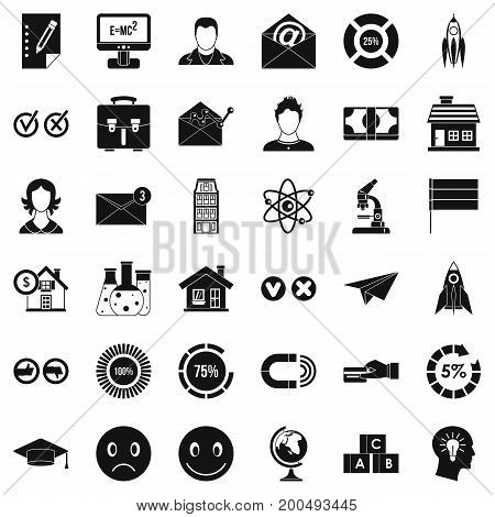 Remote training icons set. Simple style of 36 remote training vector icons for web isolated on white background