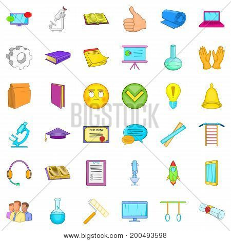 Good learning icons set. Cartoon style of 36 good learning vector icons for web isolated on white background