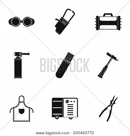 Welder icon set. Simple set of 9 welder vector icons for web isolated on white background