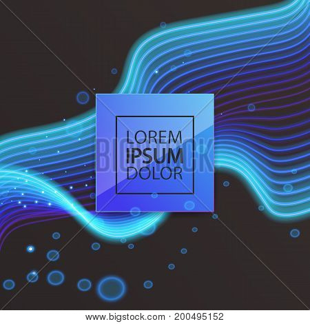 Space for your text or label, colorful background with graphic elements