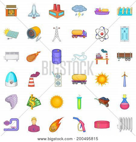 Save of energy icons set. Cartoon style of 36 save of energy vector icons for web isolated on white background