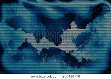 Torn blue film scan paper background