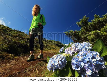 Trekking on Flores Island, Azores, Portugal, Europe