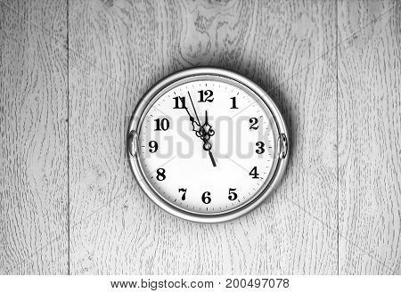 Vintage clock on the wall texture background