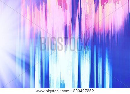 Abstract vertical bars painting with light leak hd