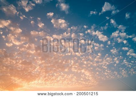 Clouds During Sunset, Beautiful View Of The Sky