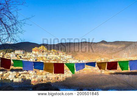 Songzanlin Monastery located at Shangri-la, Yunnan, China.