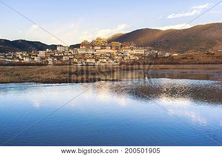 Songzanlin Monastery located at Shangri-la, Yunnan, China