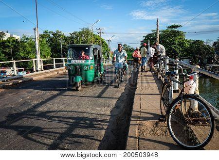 Traffic On Street In Colombo, Sri Lanka