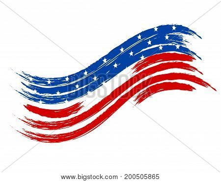 wave in colors of the national flag on a white background. Vector illustration