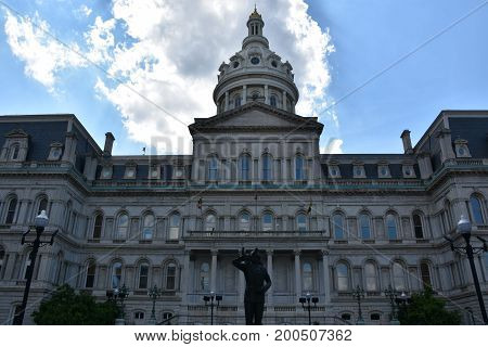 The City Hall in Baltimore, Maryland (USA)