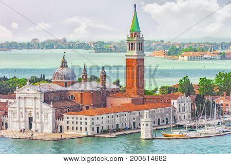 Panoramic View Of Venice From The Campanile Tower Island Of Saint Giorgio Maggiore(isola Di S. Giorg