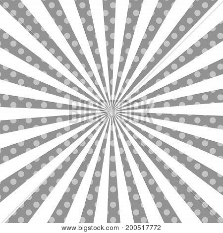 Warm gray, white pop art retro comic background vector illustration