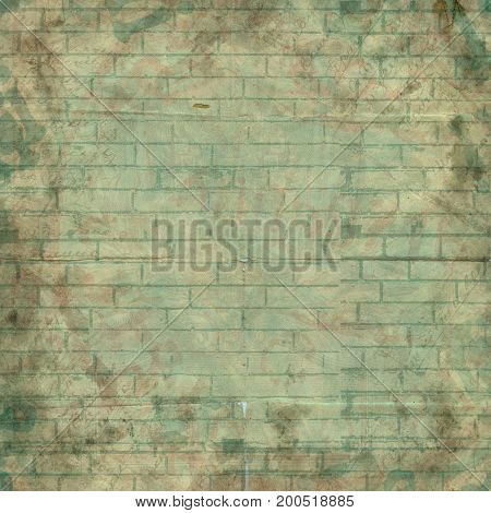 Abstract Painted Brick Wall For Design. Background For Presentation