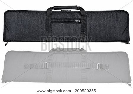 Bag for concealed carry of submachine gun. Isolated