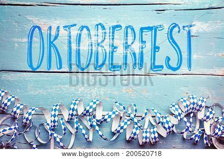 Bavarian Background With The Word Oktoberfest