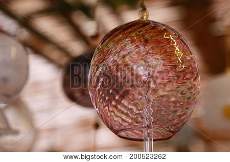 Scenery of wind chimes of Japanese glass