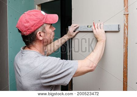 the wizard installs the guides for drywall installation