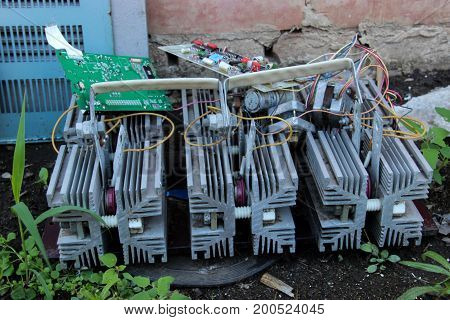 Old Radiator For Heat Removal Electronic Components