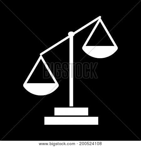 Law Scale White Color Icon .