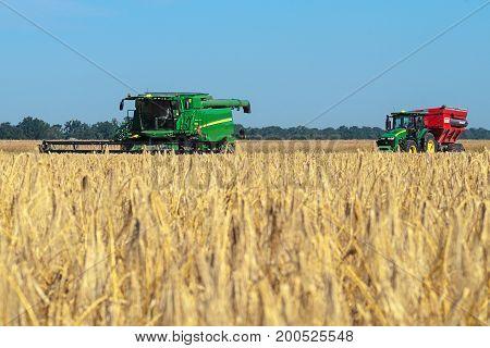 John Deere Combine And Tractor