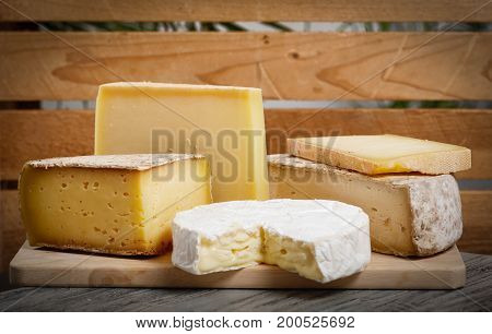 the different french cheeses Normandy and Savoie