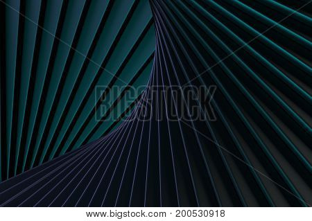 3d rendering of an abstract 3d composition with some black bars